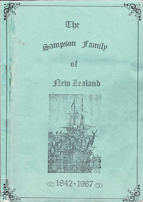 Book, The Sampson Family of New Zealand 1842- 1987; Jocelyn Fisher; 1987; 1991/61/1