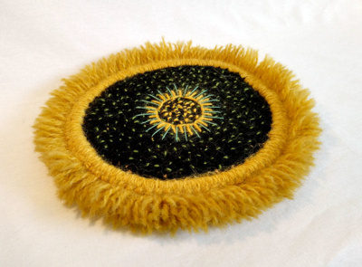 Embroidered Picture, Sunflower ; Molly Farrell; RA2018.005