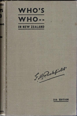 Book, Who's Who in New Zealand; G.H.Scholefield C.M.G., O.B.E., D.Sc.; 1951; 2002/64/b