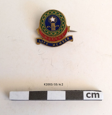 Badge, WDNZFF; post 1945; K2003/55/A.2