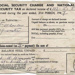 Receipt, Social Security Charge and National Security Tax on declared income; 1947; 2001/39/7/9f