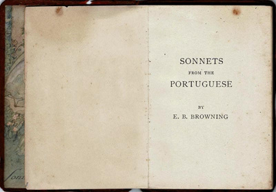 Book, Sonnets from the Portuguese; Henry Frowde; 1850; 1981.20
