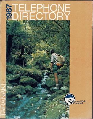 Book, Taranaki Telephone Directory 1987; E. C. Keating , Government Printer; 1989/1b