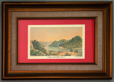 "Print, ""Looking up the Mokau River""; S. Percy Smith; Jan ? 1858; 2018.015"