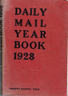 Book, Daily Mail Year Book 1928; Northcliffe House; F-8-K-1999-12-44