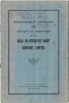 Memorandum and Articles of Association ofThe Okau Co-Operative Dairy Company, Ltd.; 1926; 2003/97.35