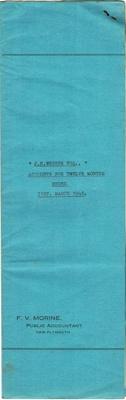 Archives, Financial Accounts of J.N.Webber Esq. Paparahia Station 1948; F.V.Morine; 1948; 1997/4/2b