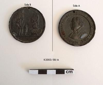 Medallion, Commemorative ; 1880; K2003/58/A