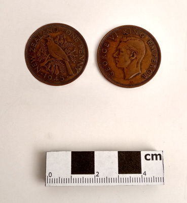 Coin, penny; 1945; RA2018.104