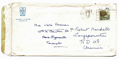 Letter, to Mrs N M Foreman from Norma Bethune (nee Crozier), plus envelope; 1990; K2001/39/6b/14