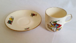 Cup and Saucer, Child's; Crown Lynn; K2002/53/G/7.1