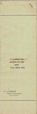 Archives, Financial Accounts of J.N.Webber Esq. Paparahia Station 1950; F.V.Morine; 1950; 1997/4/2d