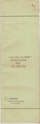 Archives, Financial Accounts of  Mr & Mrs J.N.Webber  Paparahia Station 1952; F.V.Morine; 1952; 1997/4/2f