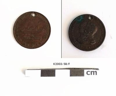 Medal, Commemorative; 1901; K2003/58/F