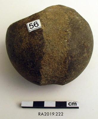 Māhē/Sinker, Stone; RA2019.222