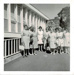 Photo, Women stand in front of building; RAP2020.0001