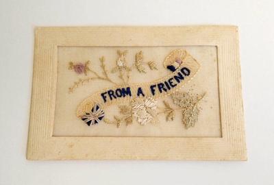 Postcard, Embroidered; RA2018.036