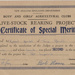 Live-Stock Rearing ProjectCertificate of Special Merit; 1955; 2003/97.26