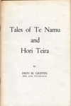 Book, Tales of Te Namu and Hori Teira; Erin M. Griffin; 2010/3/8