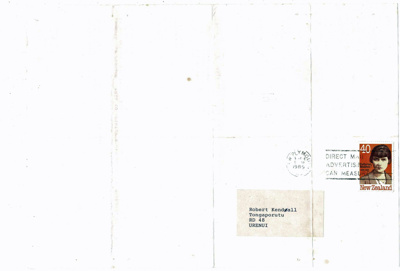 Newsletter, No 1, Foreman Family Reunion, with envelope; 1989; K2001/39/6b/10b