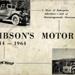 Booklet, Gibson's Motors; S.B.H.Hoben; 2000/14