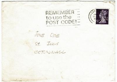 Envelope, addressed to June Opie; RAA2019.0067