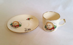 Cup and Saucer, Child's; Crown Lynn; K2002/53/G/7.2