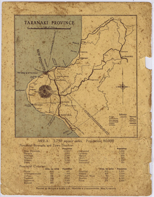 Map - Taranaki Province; McLeod and Slade Ltd; ARC2011-202