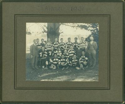 Tainui Rugby Team; 1931; PHO2011-003