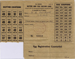 Butter and Egg Ration Card; 1950; ARC2011-229