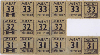 Meat Ration Coupons; ARC2011-228