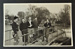 Photograph of 5 people on a weir, possibly at Chertsey; 1920s[?]; LDMRD 0724.8
