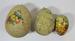 Papier mache decorative Easter eggs; LDMRD 0876.35
