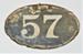 Metal plaque; LDMRD 2012.25