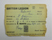 British Legion membership card; The Royal British Legion Press; 1958; LDMRD 0752.1