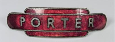 Porter badge; J. R. Gaunt; LDMRD 0063.2