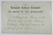 Ticket for Richmond Railway Company; 22/07/1846; LDMRD 0046.2