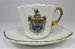 Miniature crested cup & saucer; LDMRD 0218.6a&b