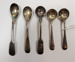 Salt and mustard spoons; c.1829-1909; LDMRD 0951.36