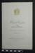 Menu for Mayoral Reception and Dinner 1972; 1972; LDMRD 0582.3