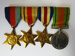 Campaign medals on bar; c.1939-1945; LDMRD 0752.33