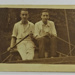 Photograph of two men in a punt; c.1920; LDMRD 0724.4
