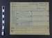 Meat sugar and butter tally card for ration orders ; 1918; LDMRD 0589.20