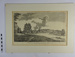 Framed monochrome print: 'View of Richmond from the River'; LDMRD 2015.158