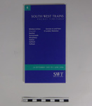 South West Train Timetable; 1995; LDMRD 0612.3
