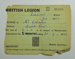 British Legion membership card; 1962; LDMRD 0752.2
