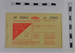 Fuel ration book; c.1957[?]; LDMRD 0936