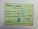 British Legion membership card; The Royal British Legion Press; 1966; LDMRD 0752.5