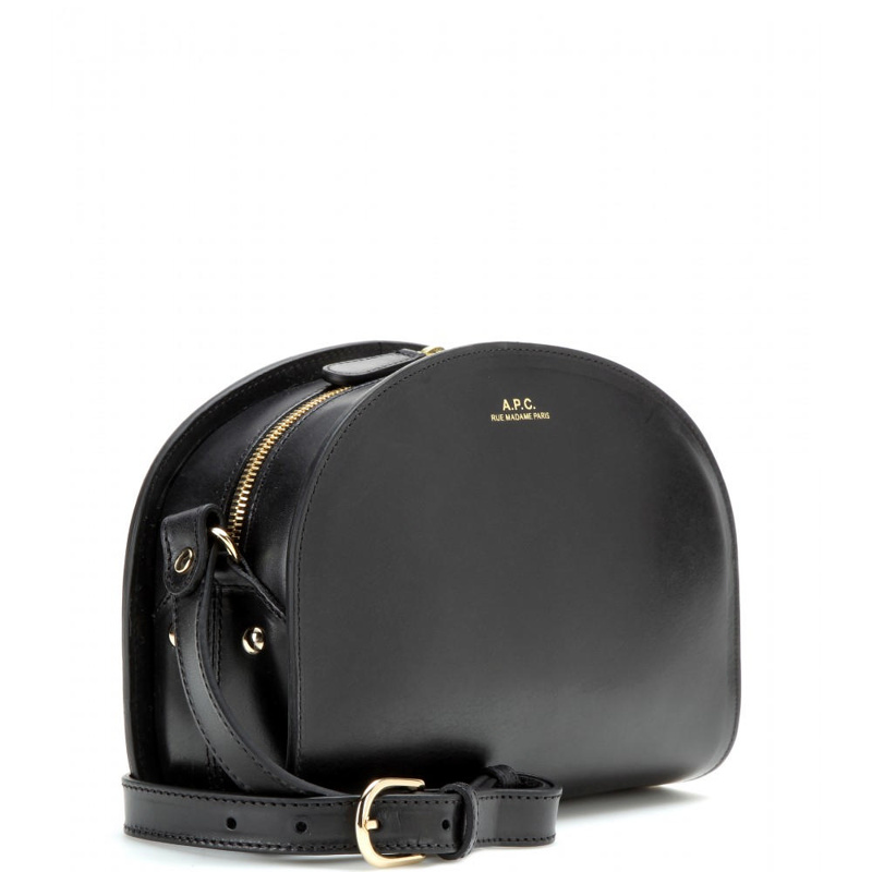 Demi-lune Leather Shoulder Bag - Black A.P.C. Buy Cheap Visit New caYARBCke