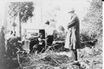 Photo - R H Hobb's truck bogged on the Eumundi to Belli road 1928; 1928-1928; P-119-0